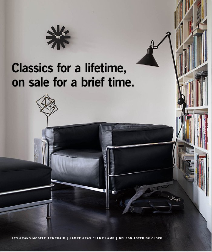 Classics for a lifetime, on sale for a brief time.