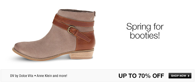 Spring for booties!
