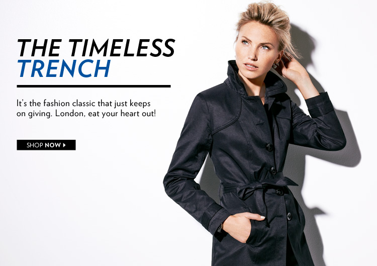 The Timeless Trench. It's the fashion classic that just keeps on giving.
