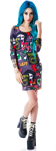 lazy-oaf-megabreath-bodycon-dress