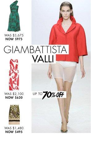 GIAMBATTISTA VALLI - UP TO 65% OFF