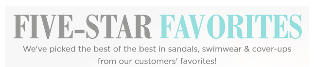 Shop Five-Star Favorites