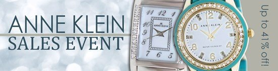 Save up to 41% during the Anne Klein watches sales event