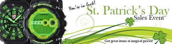 Save big site-wide during the St. Patrick's Day sales event