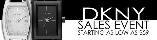 Save up to 58% during the DKNY watches sales event