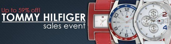 Save up to 59% during the Tommy Hilfiger watches sales event