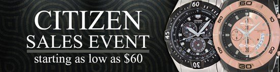 Save up to 71% during the Citizen watches sales event