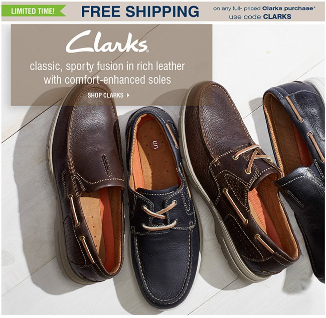 Clarks Free Shipping