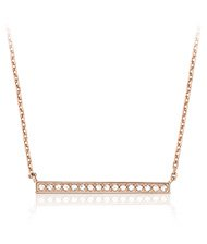 Vi Necklace, rose gold-plated