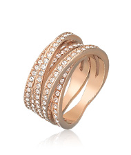 Spiral Ring, rose gold-plated