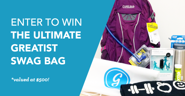 Helping us out will give you a chance to win an awesome Greatist Swag Bag that includes over $500-worth of neat gear, apparel, and more. Swag!