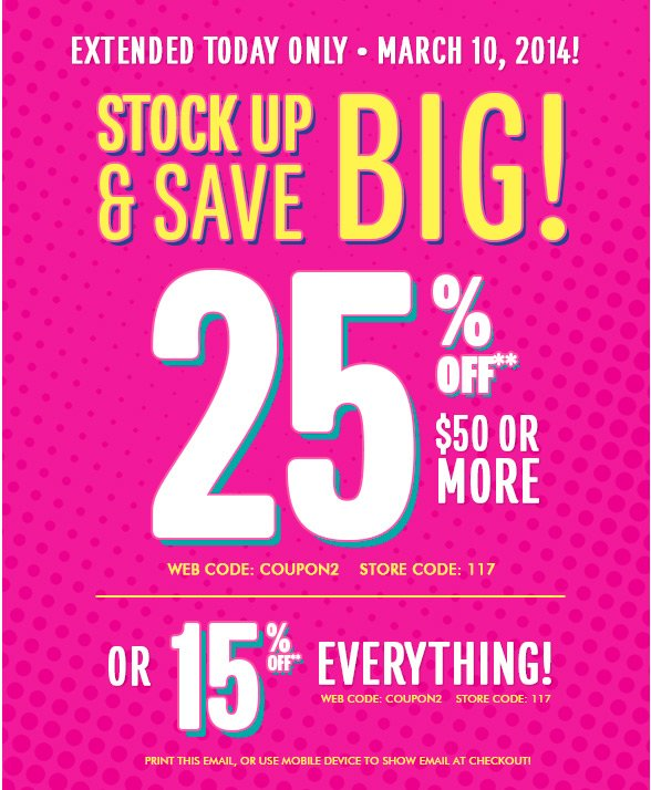 Stock Up & Save Big!