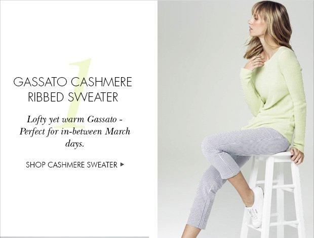 Gassato Cashmere Ribbed Sweater