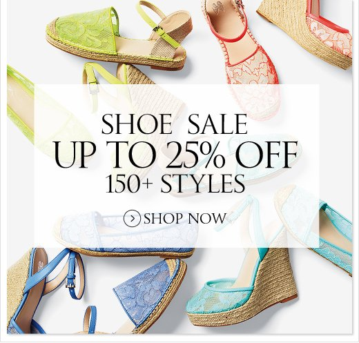 Shoe Sale Up To 25% Off