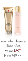 Ceramide Cleanser + Toner Set, Value $59, Now $49.