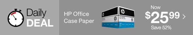 Daily Deal. HP Office Case Paper. Now $25.99. Save 52%