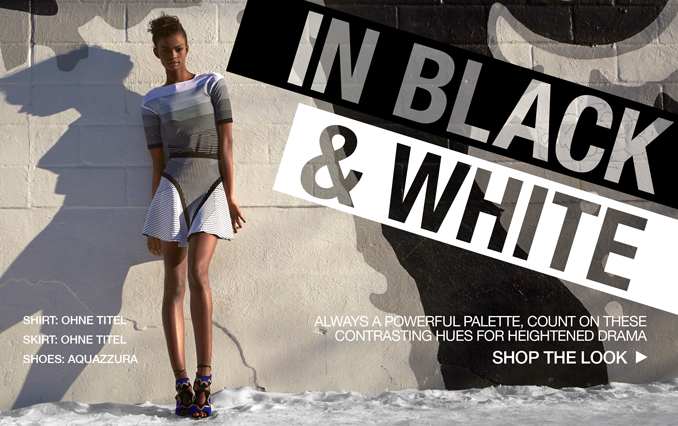 Shop Graphic Black & White - Ladies