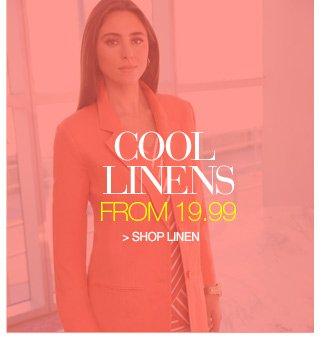 cool linens from 19.99 - shop linen