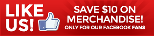 Facebook Fans Save $10 on Merchandise
