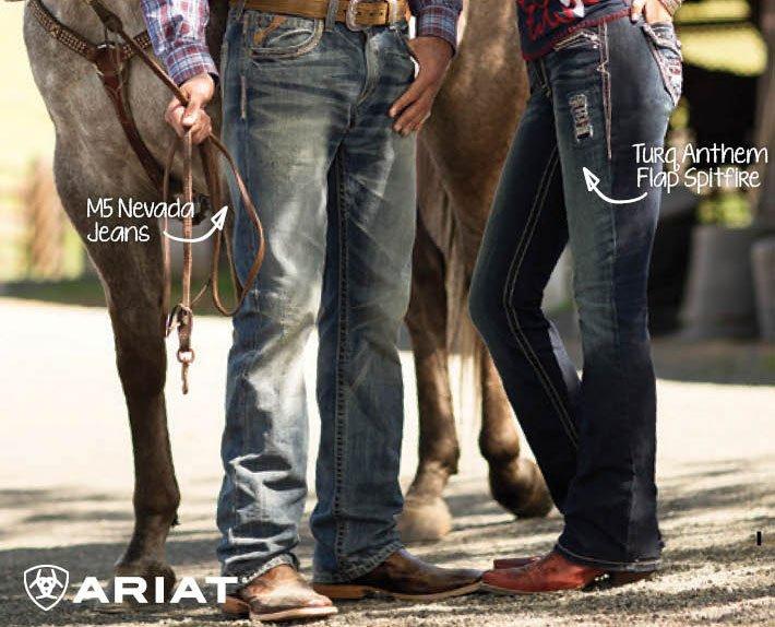 Ariat Denim Jeans - M5 Nevada - Turq Anthem Flap Spitfire