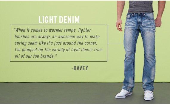 Shop Men's Light Denim