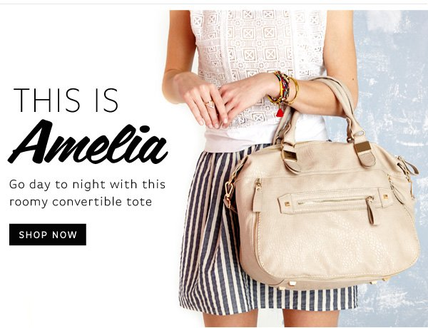 This is Amelia. Shop Now