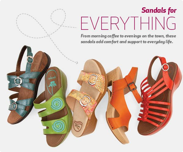 From morning coffee to evenings on the town, these sandals add comfort and support to everyday life.