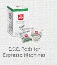 E.S.E. Pods for Espresso Machines