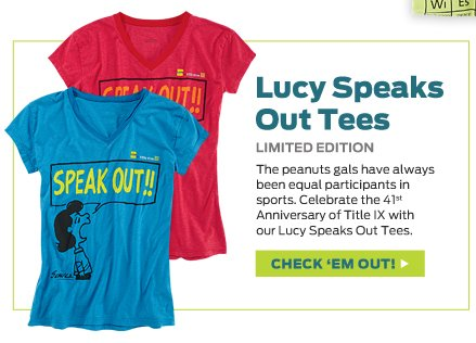 Lucy Speaks Out Tee >