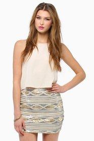 Kari Sequin Skirt $50