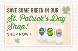 Save some green in our St. Patrick's Day Shop