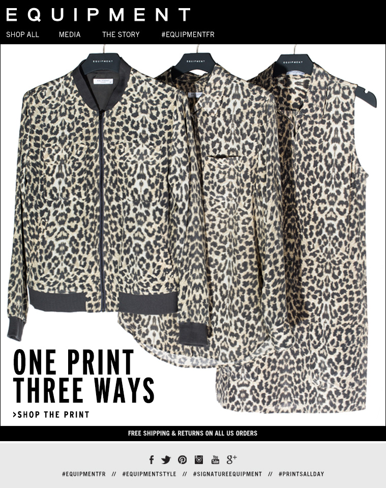 ONE PRINT THREE WAYS >SHOP THE PRINT