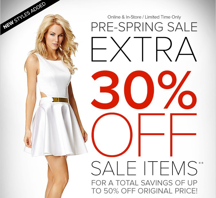 Pre-Spring Sale Extra 30 Off