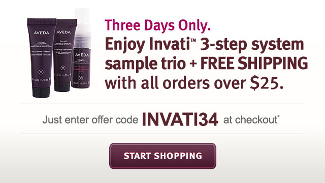 enjoy invati 3-step system sample trio + free shipping with all orders over $25. start shopping.