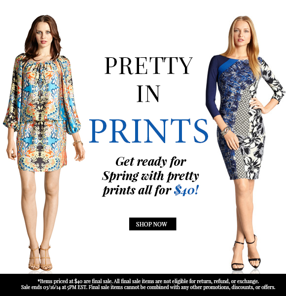 Pretty In Prints: $40 Dresses!