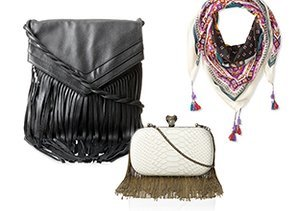 Fringe Benefits: Scarves & Handbags