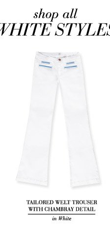 Tailored Welt Trouser with Chambray Detail