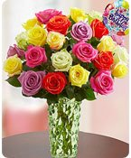 Happy Birthday Assorted Roses Shop Now