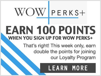 WOW Perks+ Double Points For Sign Up