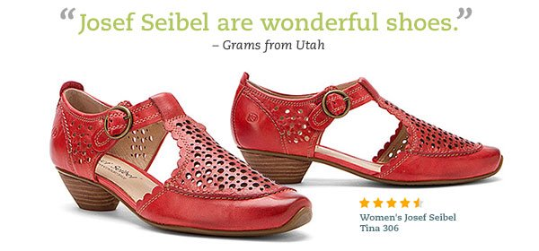 Magnificent. These feel as if they are already broken in. -Aunt Dea, VA - Women's Josef Seibel Tina 306