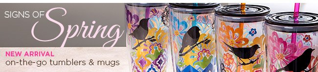 New Spring arrivals: On-the-go tumblers & mugs