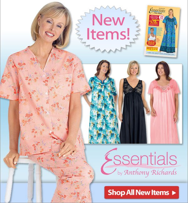 100% Cotton Knit Gown - New items from Essentials! - Shop Now >>