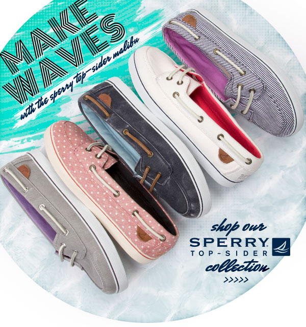 Make Waves with Sperry Top-Sider. Shop the Women's Malibu styles.