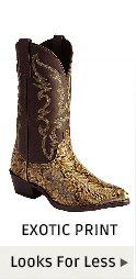 Mens Exotic Print Boots