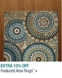 Extra 10% off Featured Area Rugs**