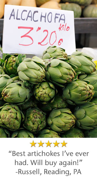 5 Star Rated - Best artichokes I've ever had. Will buy again! -Russell, Reading, PA