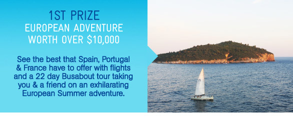 1st Prize - European Adventure Worth Over $10K