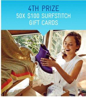 50x $100 SurfStitch Gift Cards