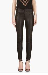 MACKAGE Black Leather Miki Leggings for women