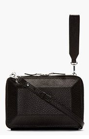 MACKAGE Black Leather Prism Roni Convertible Clutch for women